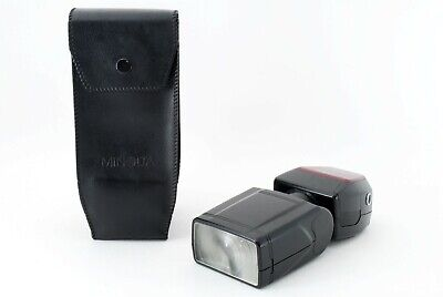 Minolta 5200 i Shoe Mount Flash w/Case Excellent From Japan Tested F/S #3740