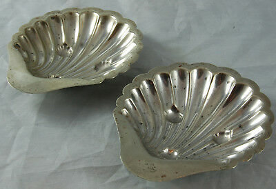 Two Silver Plated Shell Ashtrays