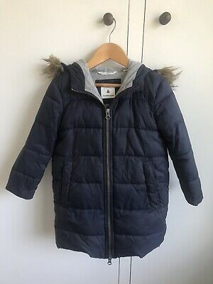 Country Road Navy Puffer Girls Coat Size 2-3 Rrp $129