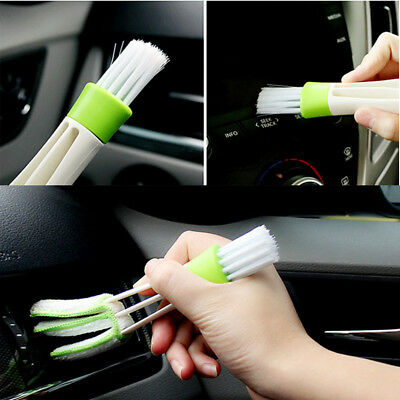 Double Head Car Air Conditioning Outlet Blind Cleaning Brush Duster Cleaner Tool