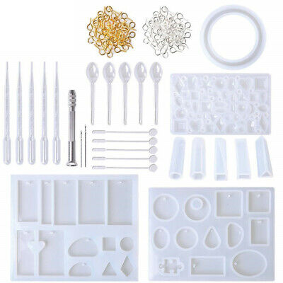 127Pcs DIY Resin Casting Mold Silicone Making Jewelry Pendant Mould Surp I9C8S