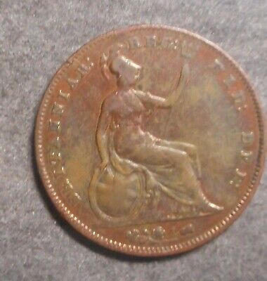Great Britain  1854 Victoria Large  Penny Dipped