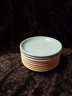 8 Vintage Imperial Ware Melmac Coasters Butter Pats Assorted Colors Set