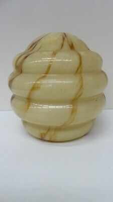 Vintage Art Deco Mottle Marble Patterned Glass Light Shade