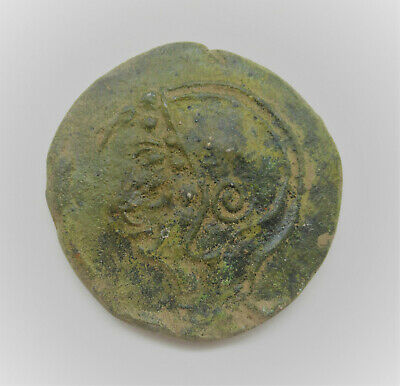 Very Rare Circa 4Th Century Bc Ancient Greek Ae Token