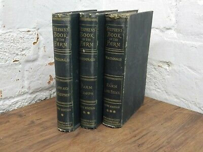 1919 Stephen's Book of the Farm 3 Volumes