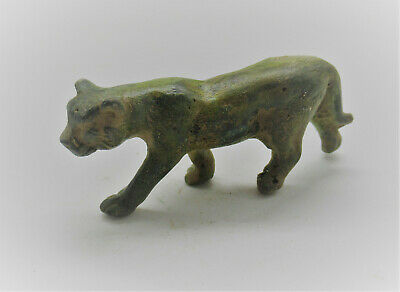 Scarce Circa 100-300Ad Ancient Roman Bronze  Lion Figurine