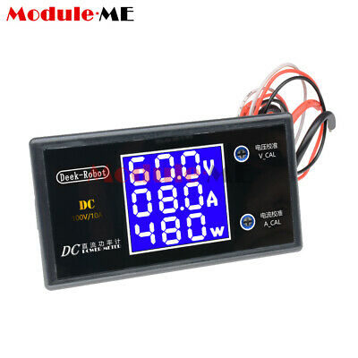DC 100V 10A 1000W LCD Display Digital Voltmeter Wattmeter Current Power Tester