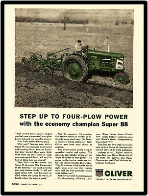 1955 Oliver Tractors New Metal Sign:  Model Super 88 Diesel Showing with Plow
