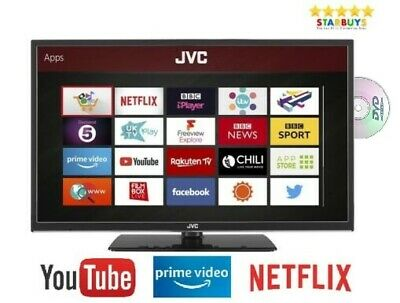 "JVC 32"" Inch SMART LED TV With Built in DVD Player Combi Freeview WiFi HDMI"