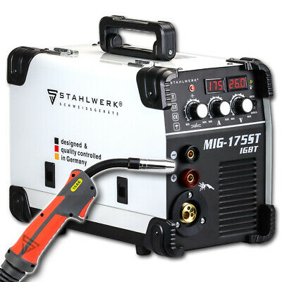 Welder STAHLWERK MIG MAG 175 ST IGBT - SHIELDING GAS & FLUX GASLESS CORED WIRE