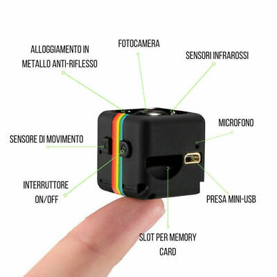 TELECAMERA MINI ACTION CAM CAMERA VIDEOSORVEGLIANZA MICRO SD FULL HD rapida