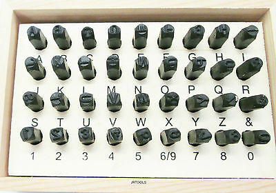 Letter and Number Stamps Punch Set 36pc 3mm HB273
