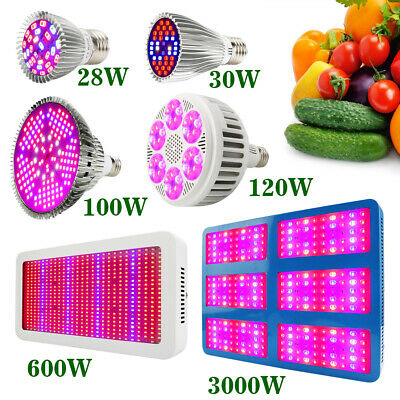 100W 120W 600W 3000W Full Spectrum LED Grow Light Bulb Indoor Growing Plant Lamp