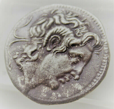 Very Fine Ancient Greek Ar Silver Tetradrachm Coin Of Alexander The Great