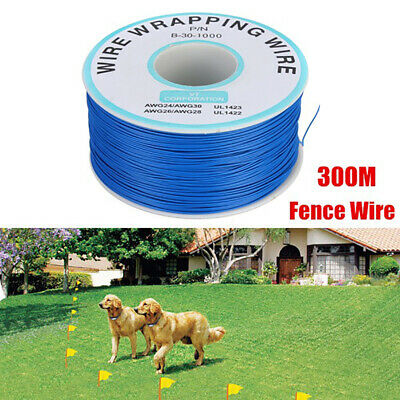 300m Underground Electric Shock Pet Dog Fence System Boundary Coil Wire Cable_HT
