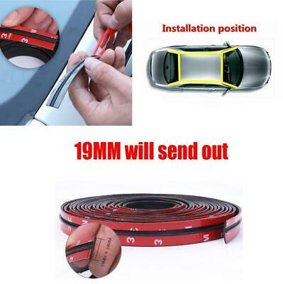 9M Car Windshield Seal Strip Roof Edge Rubber Weatherstrip Waterproof Soundproof