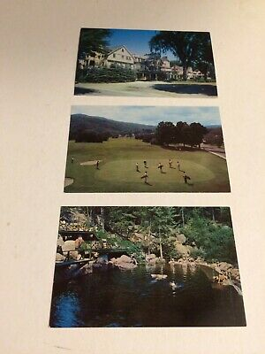 Lot of 3 Vintage Chrome Postcards, Wentworth Hall, Jackson NH, Golf Course