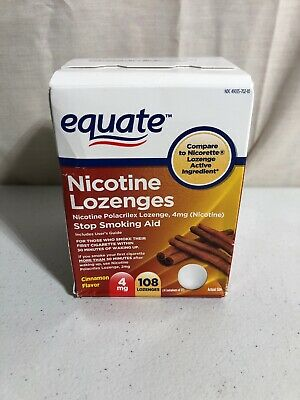 Equate Nicotine Lozenges, 4 Mg, Cinnamon Flavor, 108 Pieces, 03/2020