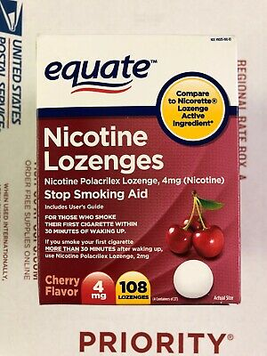 Equate Stop Smoking Aid Nicotine Lozenge 4mg, Cherry, 108 Pieces • SHIPS FREE