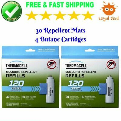 Thermacell 120 Hour 20 Count Mosquito Repellent Refill Mat House for Outdoor NEW