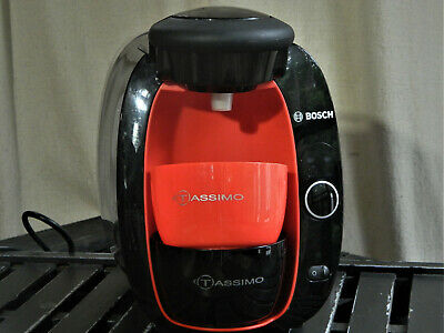 Bosch Tassimo Coffee Brewer TAS2002UC Black and red  RARE Brewing System