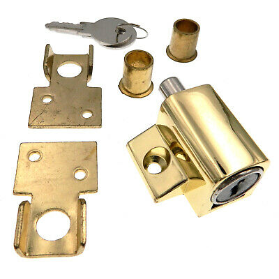 Warwick Wooden Sash Lock Bolt Keyed Window Lock, Polished Brass SH1054PB