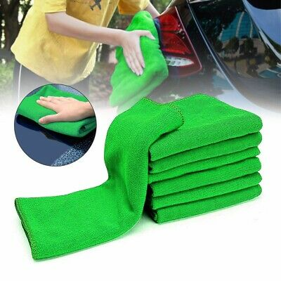 5/10x Microfiber Car Wash Towel Soft Cleaning Auto Car Care Detailing Cloths Was