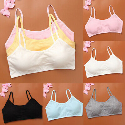 1x Young girls bras underwear vest sport wireless training puberty brHZ