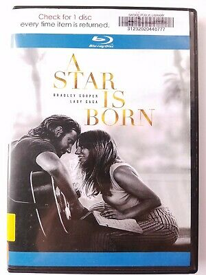 A Star Is Born, 2018, R-Rated, Drama Music Romance, Bluray Movie, Like New
