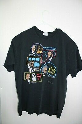 Vintage 90s 1995 BLACK SCIENTISTS & INVENTORS-African American Men's Size 2XL