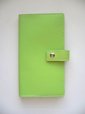LIME GREEN Faux Leather Diary, Memo/Note Book, Travel Journal 80 Lined Sheets BN