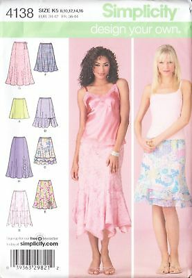 Misses Skirts Design Your Own Skirt Various Lengths Size 8-16 Sewing Pattern