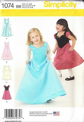 Childs Girls Special Occasion Dress In Two Lengths Size 4-8 yrs Sewing Pattern