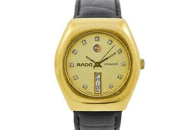 Vintage Rado Voyager Gold Plated Automatic Gents Midsize Watch 1673