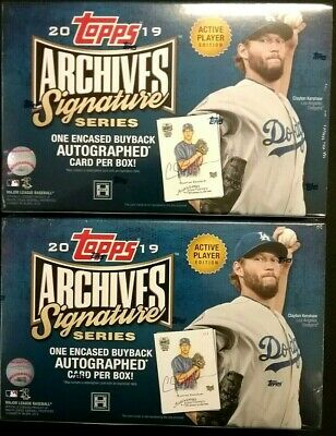 2019 Topps ARCHIVES Signature Series Active Player 2 Box Lot  FREE PRIORITY SHIP