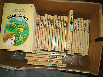 Lot of 1 to 34 Trixie Belden paperback books oval covers