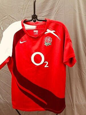 England O2 Red Nike Rugby Shirt Jersey Top Boys 13-14 Years