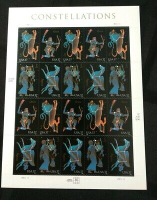 Constellations Stamp Sheet Of 20 37C Stamp Sheets