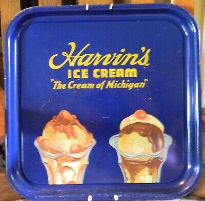 Harvin's Ice Cream tray. Vintage 1920's Michigan. Good condition for 100 years