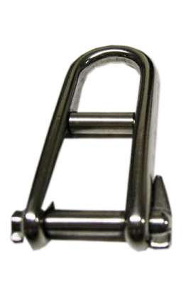 Marine Boat Flush 5MM Stainless Steel Dee Shackle With Countersunk Pin