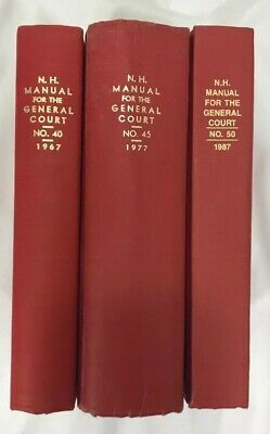 New Hampshire Manual for the General Court- 1967, 1977, 1987