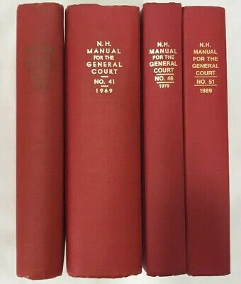 New Hampshire Manual for the General Court- 1959, 1969, 1979, 1989