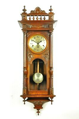 Antique 1920`German Kienzle WESTMINSTER Spring Driven Wall Clock 7 chime rods