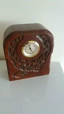Arts & Crafts Original Solid Wood Cased (Newman ) Mantle Clock. Working Order.