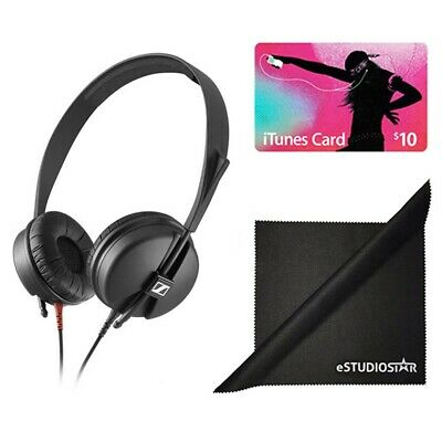 Sennheiser HD 25 LIGHT Monitor Headphones w/Free $10 iTunes Card&Polishing Cloth