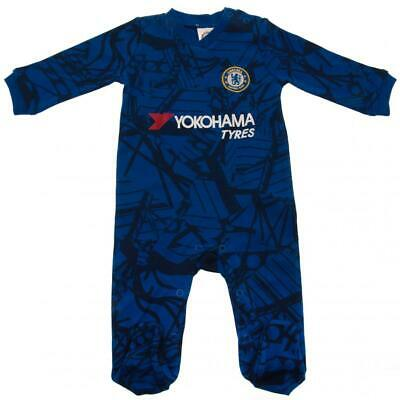 Chelsea Fc Official 2019 2020 Football Baby Grow Sleep Suit 9-12 Months Babies