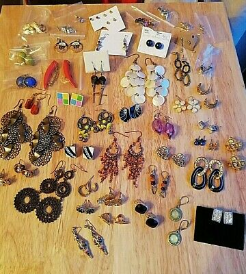 Job Lot 56 Pairs Modern & Vintage Earrings