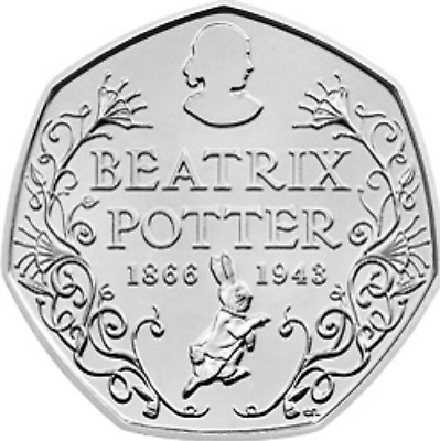 50p Fifty Pence Coin Beatrix Potter Anniversary 2016 Rare Coin Hunt circulated