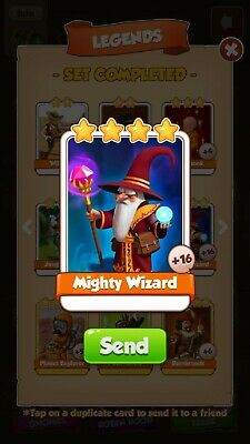 Coin Master Card Mighty Wizard FAST DELIVERY